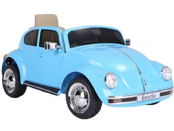 Classic Volkswagen Beetle Blue Licensed 12v Electric Ride on Car with Parental Control